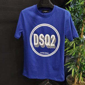 DSQUARED MEN BLUE COLOR SHORT SLEEVE TSHIRT